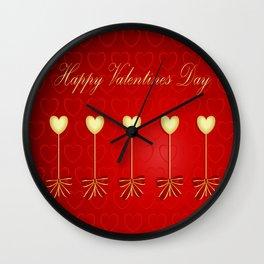 Happy Valentines Day Celebration Wall Clock