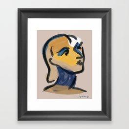 Ninette Modern Portrait Print Framed Art Print