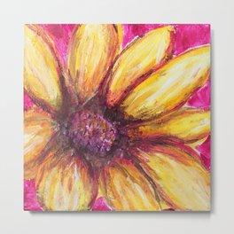 Cheery Yellow Flower Metal Print