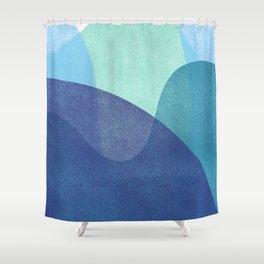 Waves Underwater Art Shower Curtain