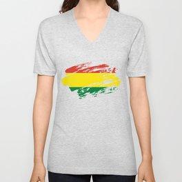 Bolivia Flag Tee Unisex V-Neck