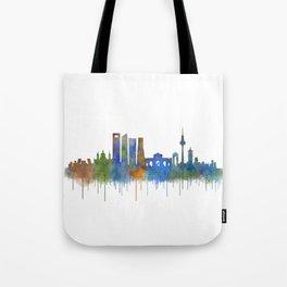 Madrid City Skyline HQ v4 Tote Bag