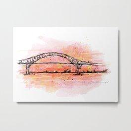 Bridge in coral Metal Print