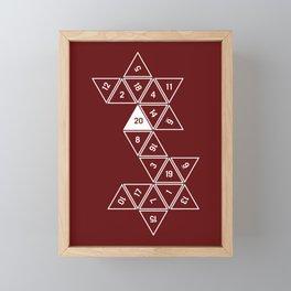 Red Unrolled D20 Framed Mini Art Print