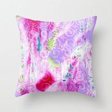 Pink Curlicules Throw Pillow