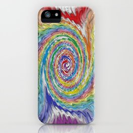 A Colorful Splatter iPhone Case