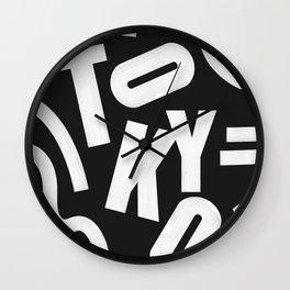Tokyo Routes Wall Clock