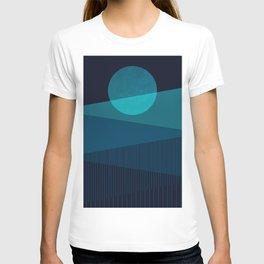 Abstraction_BLUE_MOON_NIGHT_Minimalism_001 T-shirt