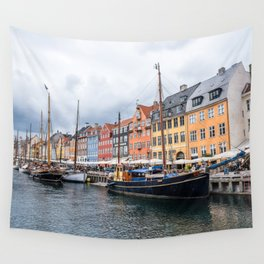 Nyhavn waterfront in Copenhagen Wall Tapestry