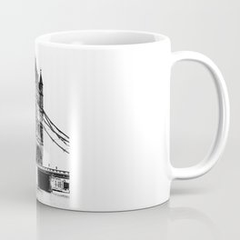 Tower bridge in White & Black! Coffee Mug