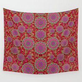 Hearts can also be flowers such as bleeding hearts pop art Wall Tapestry