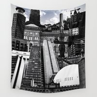 stockholm Wall Tapestries featuring Urban Stockholm by Nicklas Gustafsson