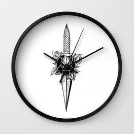rose knife Wall Clock