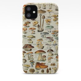 Mushrooms Vintage Scientific Illustration French Language Encyclopedia Lithographs Educational iPhone Case