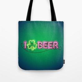 I Like Beer Neon Sign Tote Bag