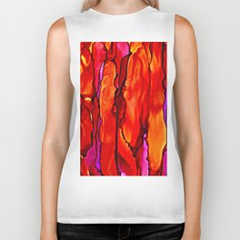 Reverie in Red Yellow and Violet Biker Tank