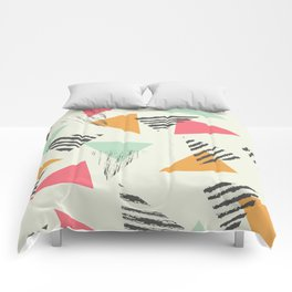 Geometric Mint Pattern Design 015 Comforters