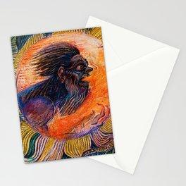Witch Doctor (Shaman) by David Davidovich Burliuk Stationery Cards