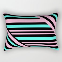 Geometric pattern. Striped triangles 5 Rectangular Pillow