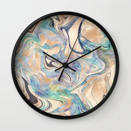 Liquid Bronze Mermaid Sea Marble Wall Clock