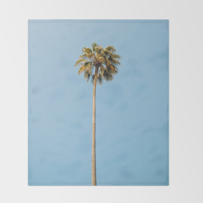 Palm Photography Throw Blanket