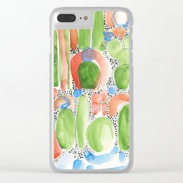 Mojito Plants Clear iPhone Case