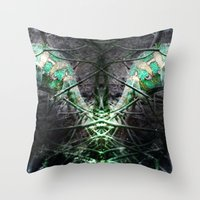 lizard Throw Pillows featuring LIZARD by ED design for fun