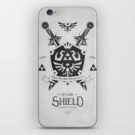 Legend of Zelda Hylian Shield Foundry logo Iconic Geek Line Artly iPhone Skin
