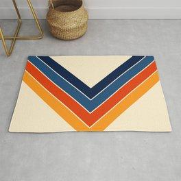 Colorful V Shape Retro Stripes Chilseongsin Rug