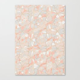 Pattern Rose Triangle Canvas Print