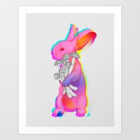 Psilocybin Rabbit Art Print