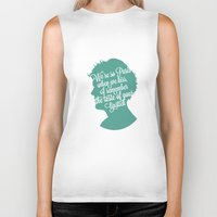 louis tomlinson Biker Tanks featuring Louis Tomlinson Silhouette  by Holly Ent