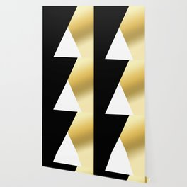 Elegant gold and black geometric design Wallpaper