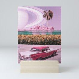 Roadtrip Stop - Space Aesthetic, Retro Futurism, Sci Fi Mini Art Print