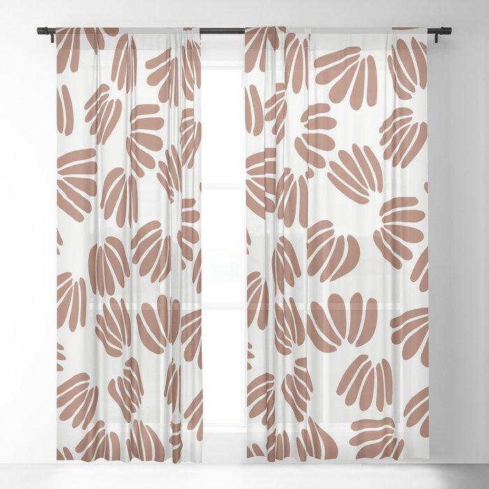 Abstract Floral VI Sheer Curtain