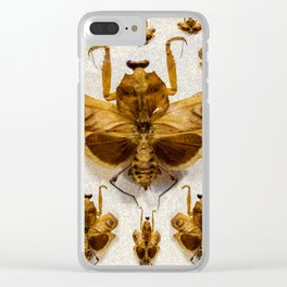 Insect pattern Clear iPhone Case