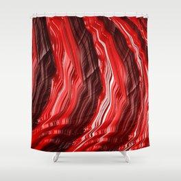 Fiery Red Fractal Abstract Modern Art Shower Curtain