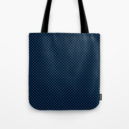 Black and Lapis Blue Polka Dots Tote Bag