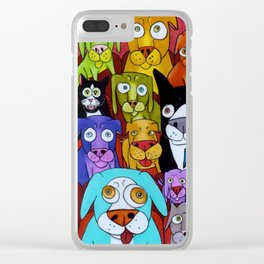 Watching Cats Clear iPhone Case