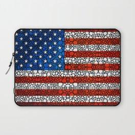 American Flag - USA Stone Rock'd Art United States Of America Laptop Sleeve