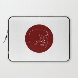 Relaxing Cat in claret circle Laptop Sleeve