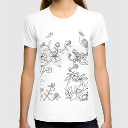 Color Your Own Chinoiserie Panels 3-4 Contour Lines - Casart Scenoiserie Collection T-shirt