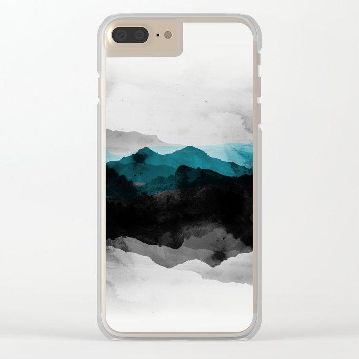 nature montains landscape Clear iPhone Case