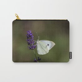 Butterfly on lavender, green blurry background Carry-All Pouch