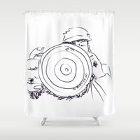 photographer Shower Curtains featuring photographer by AA++