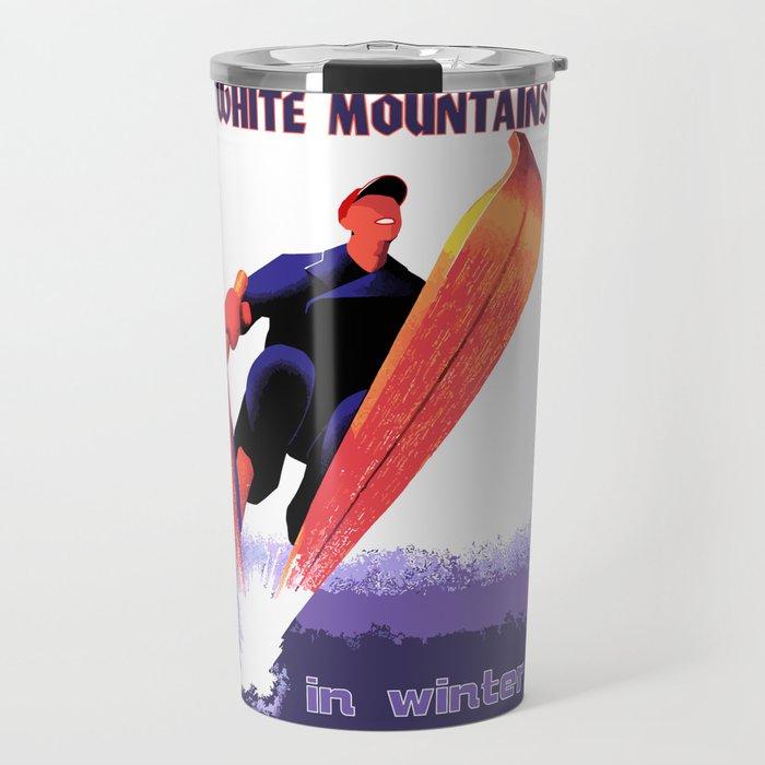 White Mountains in Winter Travel Mug