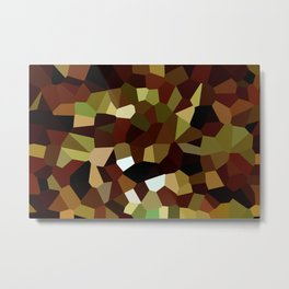Crystal Brown Camo Metal Print