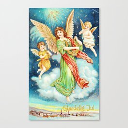 Vintage Christmas Angels 1913 Canvas Print