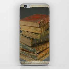 GRUBY SHABBY CHIC ANTIQUE LIBRARY BOOKS iPhone Skin