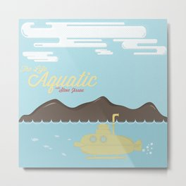 The Life Aquatic Metal Print